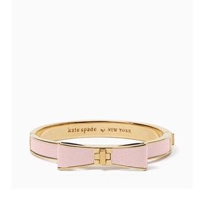 Kate Spade Pink Leather Bow Bracelet